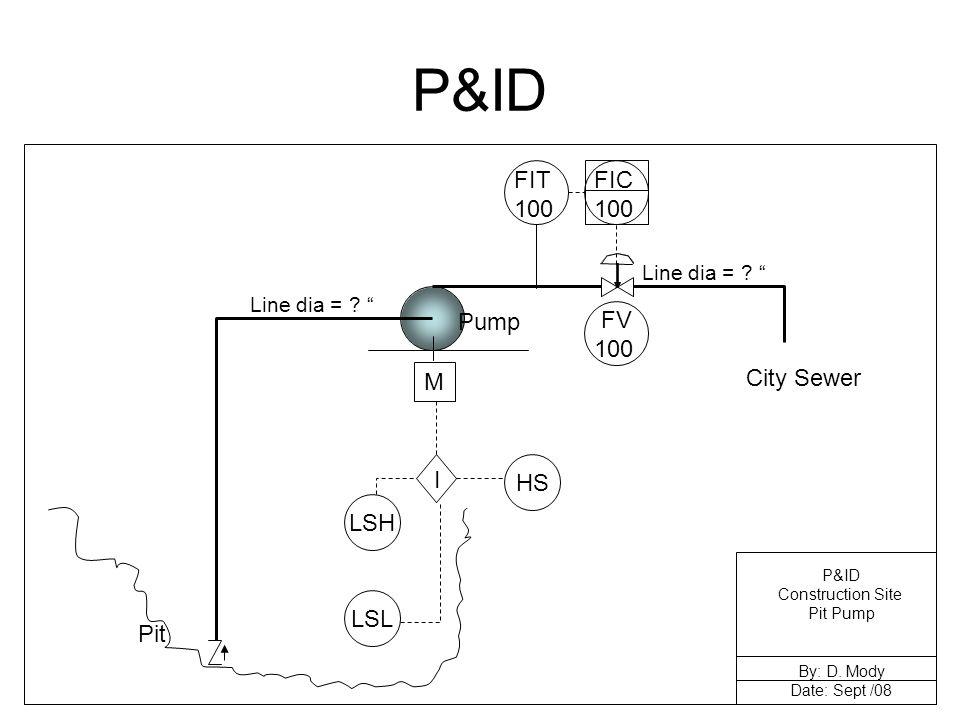 P&ID Pit City Sewer Pump M HS Line dia = .