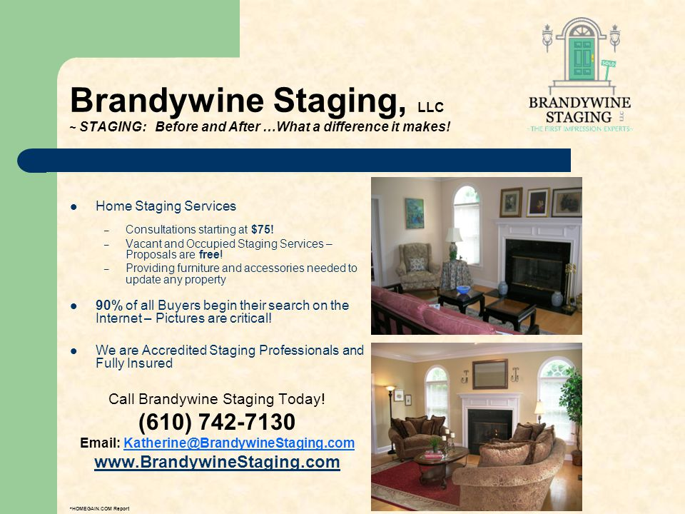 Brandywine Staging, LLC ~ STAGING: Before and After …What a difference it makes! Home Staging Services – Consultations starting at $75! – Vacant and O