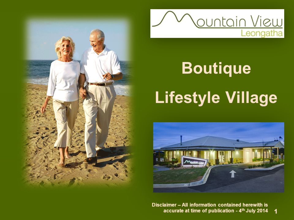 MOUNTAIN VIEW FINANCIAL OPTIONS Mountain View offers 2 financial options to acquire a villa ■ Resident Contract – Loan Licence (home owner) ■ Leasehold Agreement – Leasehold (non home owner) ■ Both secured with a refundable EOI deposit 12