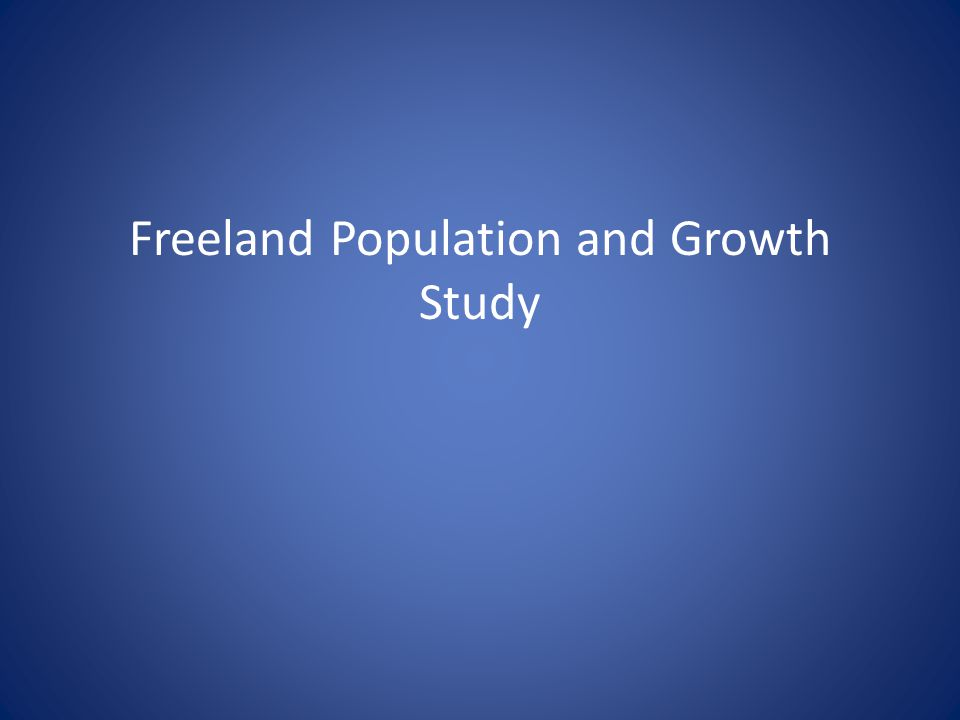 Freeland Population and Growth Study