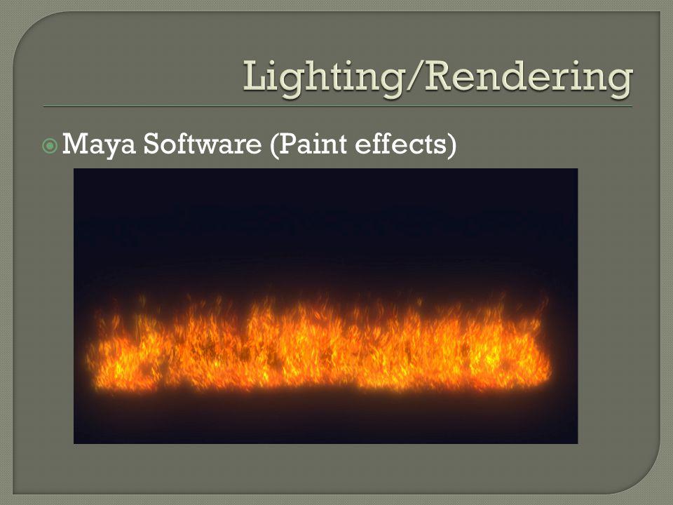  Maya Software (Paint effects)