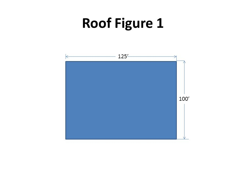 Problem #4 Roof Size – 175' x 150' = ______ sq.ft.