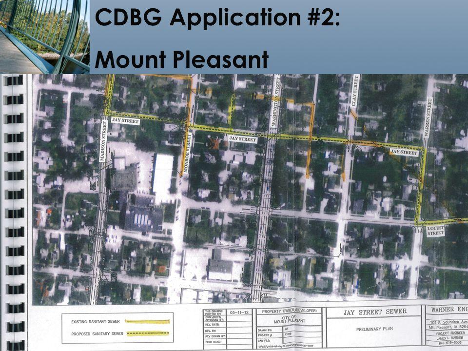 19 CDBG Application #2: Mount Pleasant