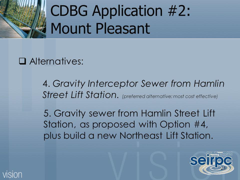 CDBG Application #2: Mount Pleasant 5.