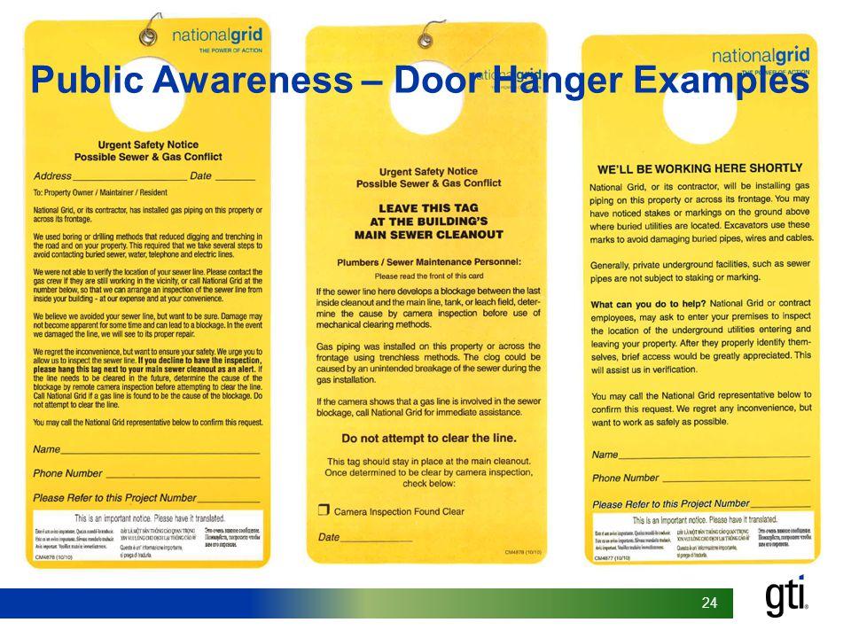 24 Public Awareness – Door Hanger Examples