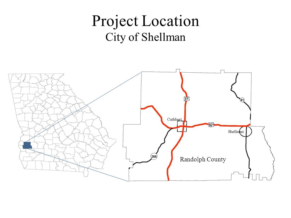 Project Location City of Shellman Randolph County