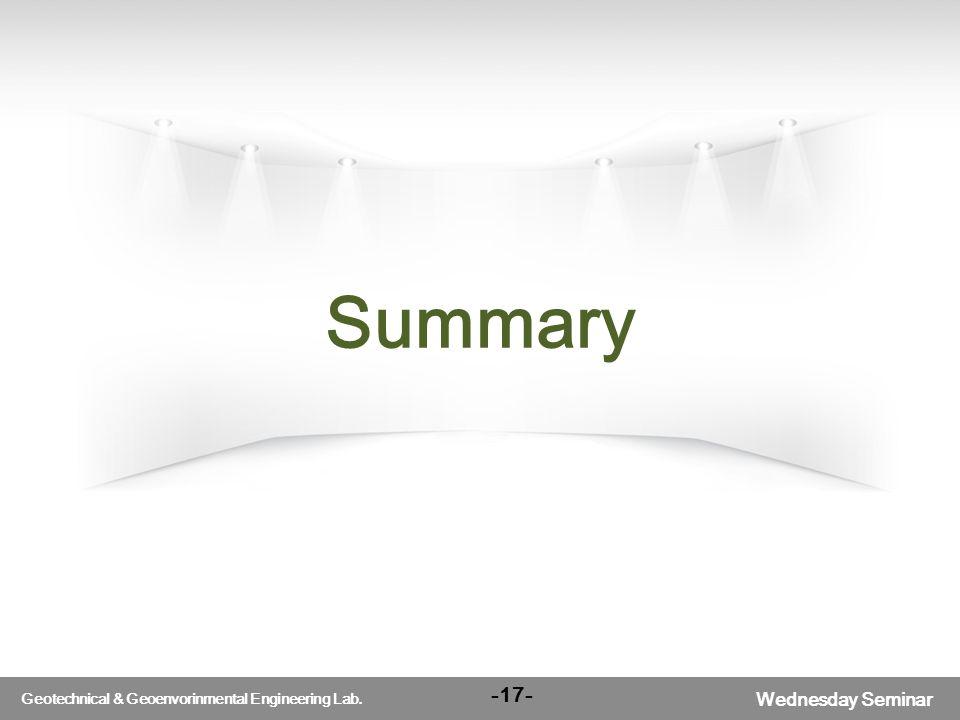 서울대학교 Wednesday Seminar Geotechnical & Geoenvorinmental Engineering Lab. Summary -17-