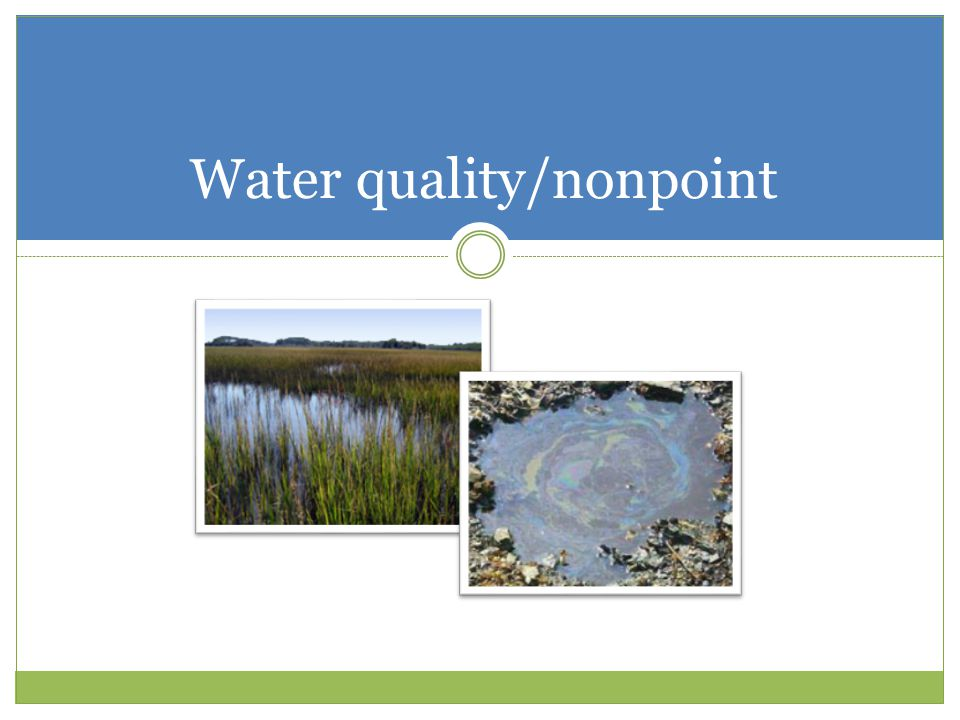 Water quality/nonpoint