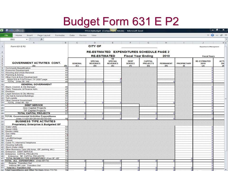 Budget Form 631 E P2