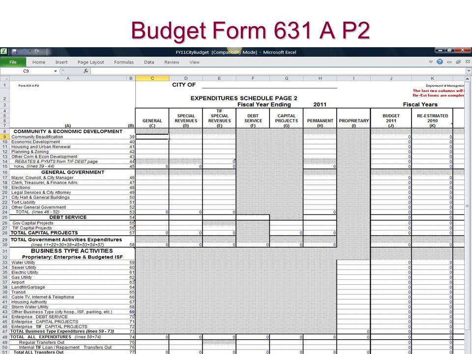 Budget Form 631 A P2