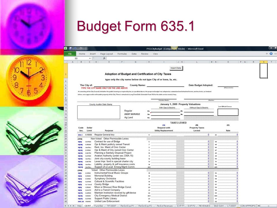 Budget Form 635.1