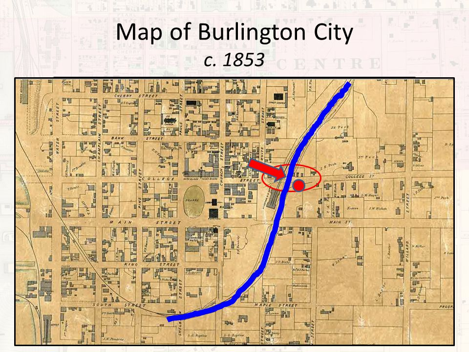 Map of Burlington City c. 1853