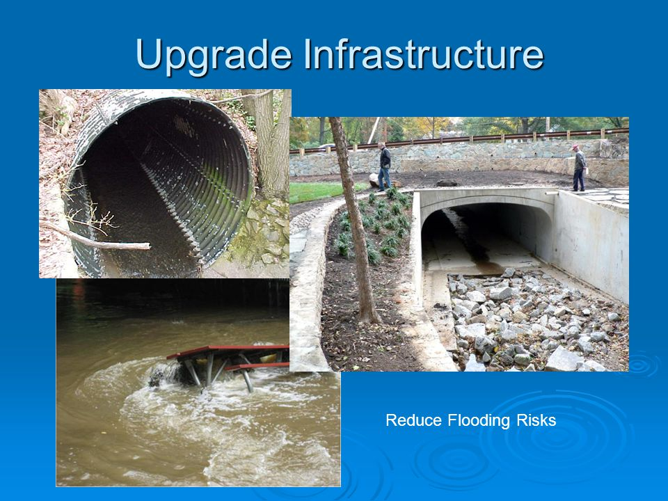 Upgrade Infrastructure Reduce Flooding Risks