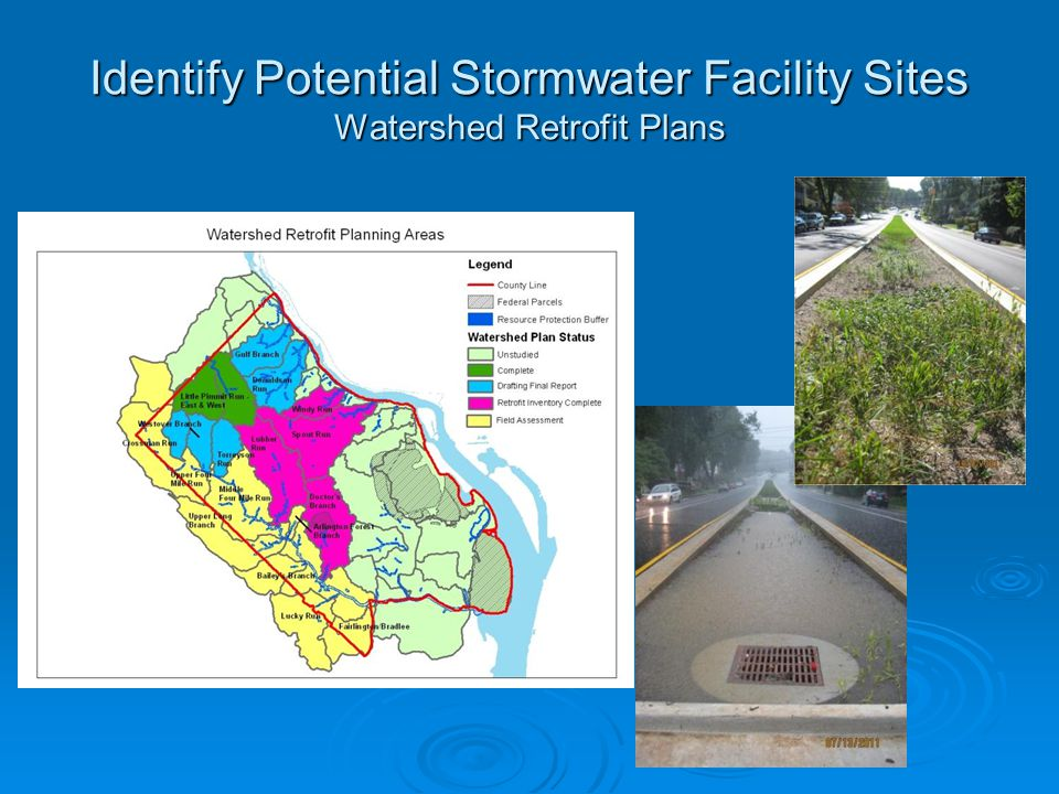 Identify Potential Stormwater Facility Sites Watershed Retrofit Plans