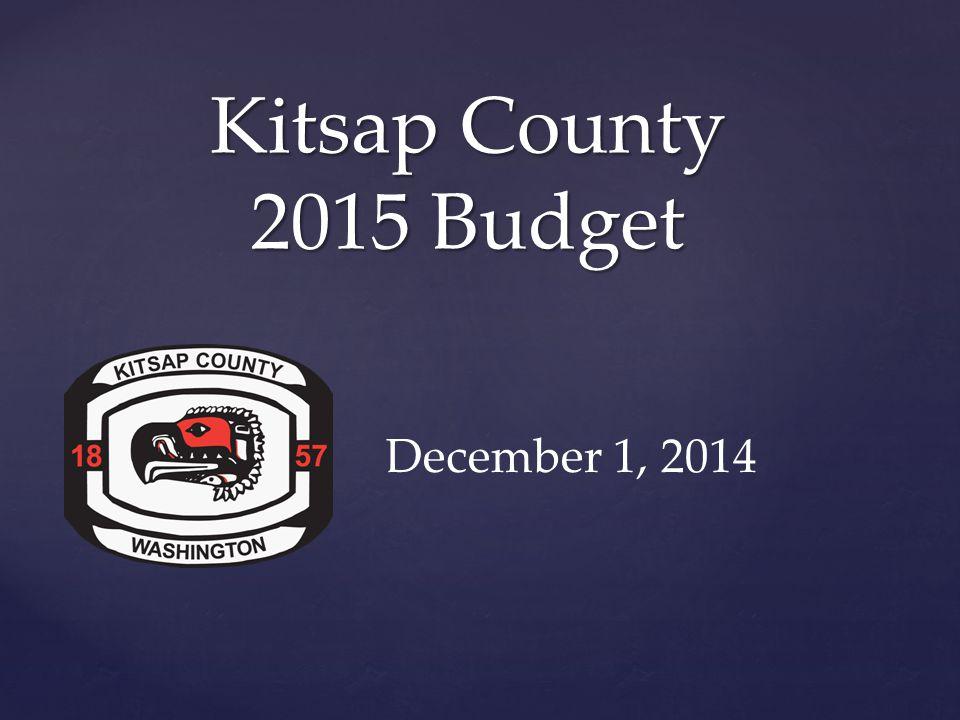 { Kitsap County 2015 Budget December 1, 2014