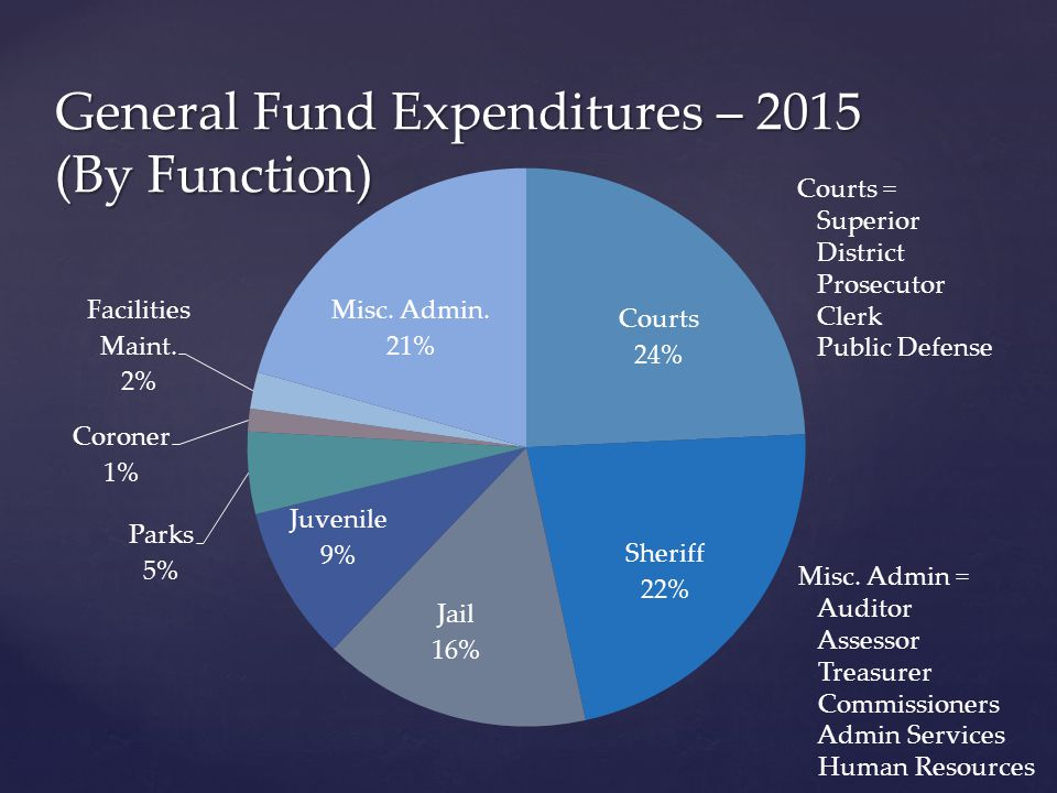 General Fund Expenditures – 2015 (By Function) Misc.