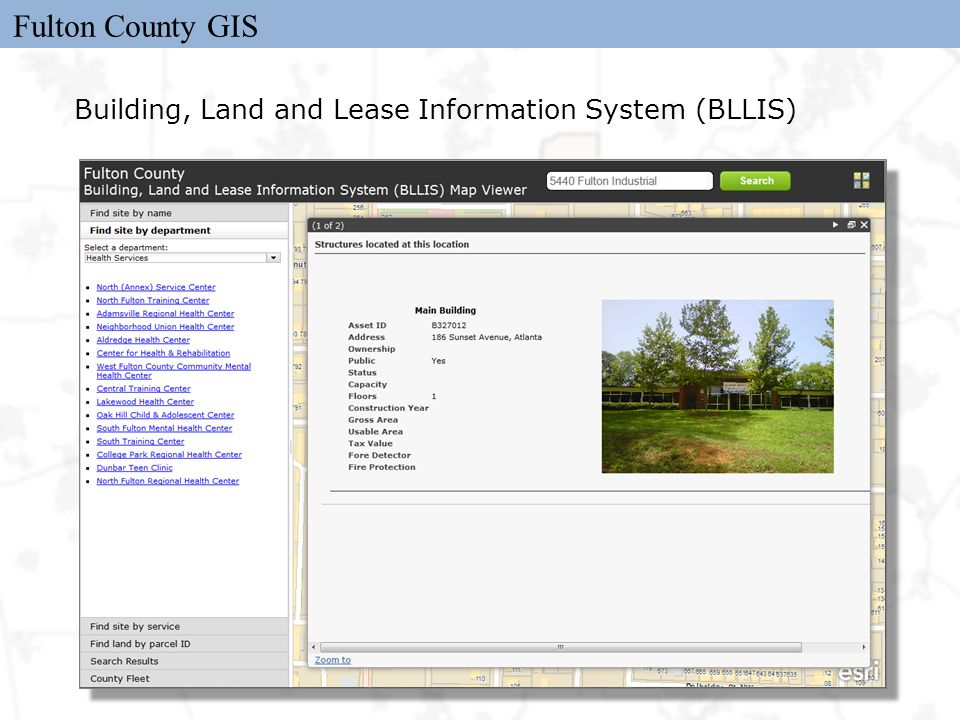 Fulton County GIS Building, Land and Lease Information System (BLLIS)