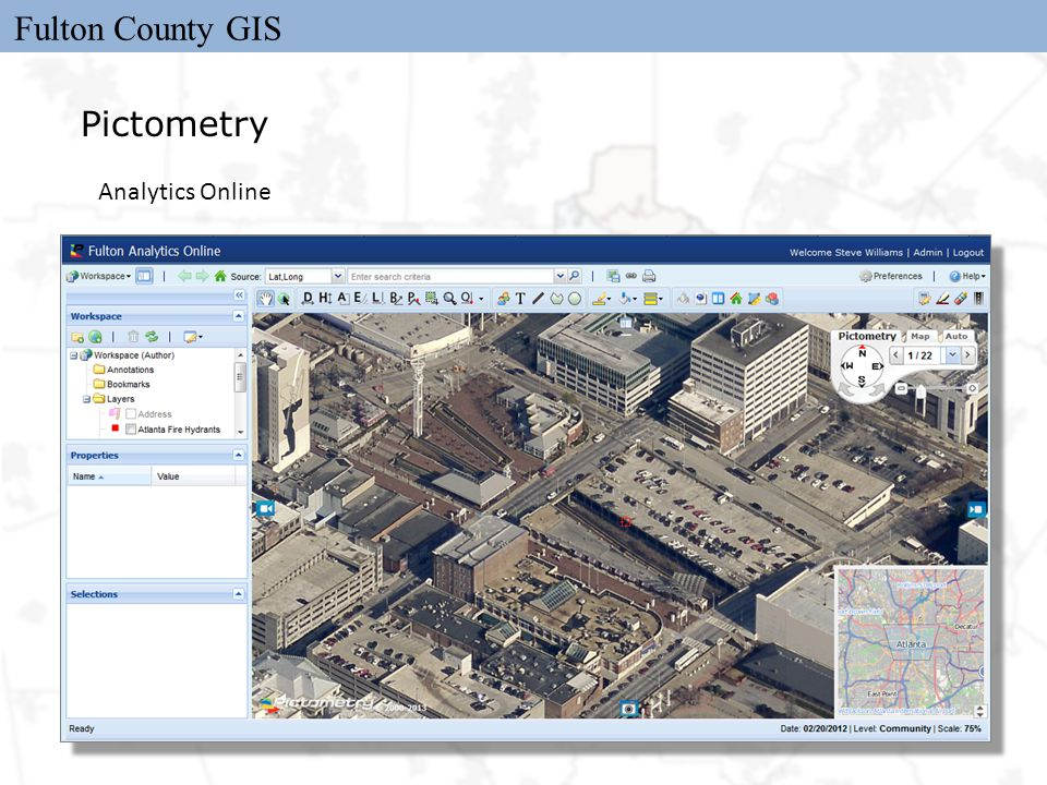 Fulton County GIS Pictometry Analytics Online