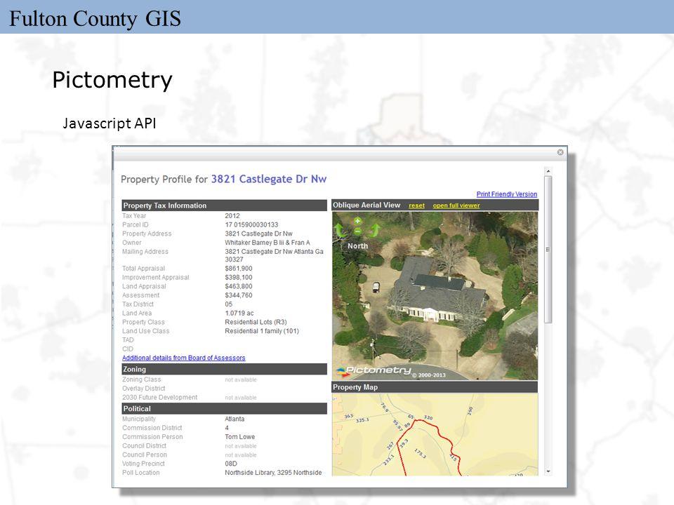 Fulton County GIS Pictometry Javascript API