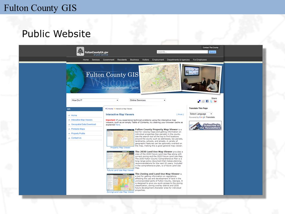 Fulton County GIS Public Website