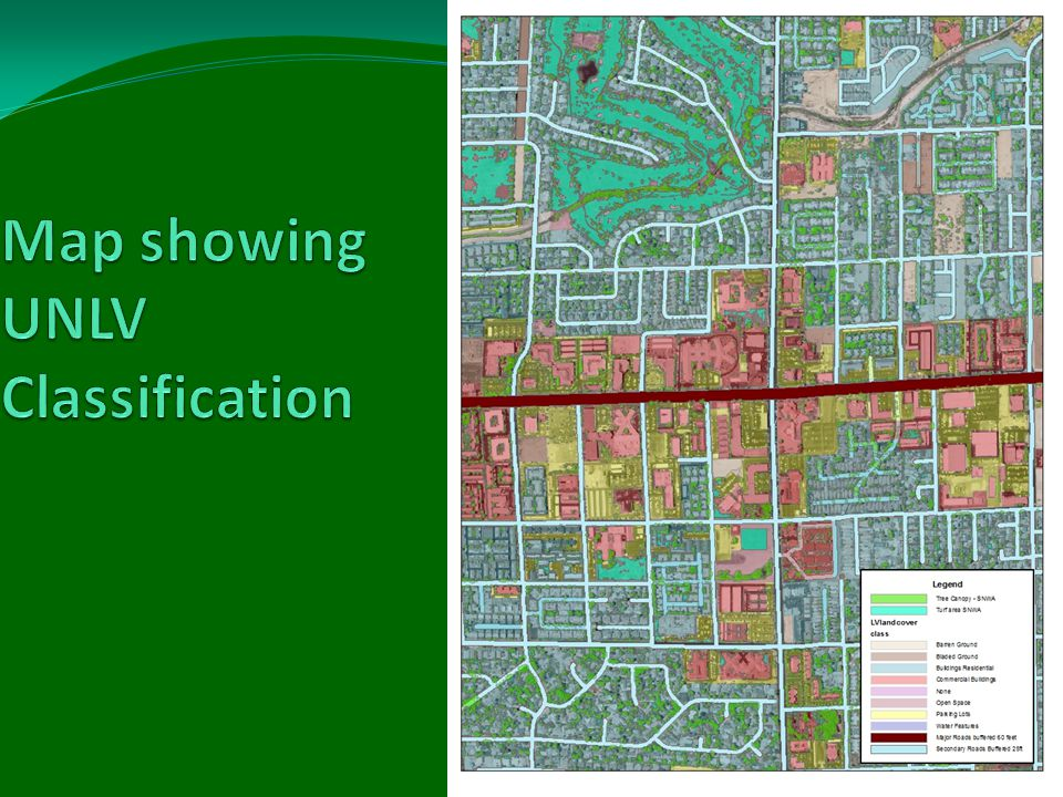 Final land classification was, using City Green descriptions: Arid and Semi Arid Rangeland- Sagebrush=Ground cover 30% to 70% Impervious Paved Impervious Drain Sewer-Roads, Parking lots Impervious Unpaved Dirt- Bladed Open Space grass/scattered trees