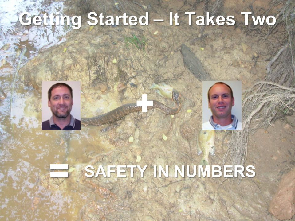 Getting Started – It Takes Two SAFETY IN NUMBERS
