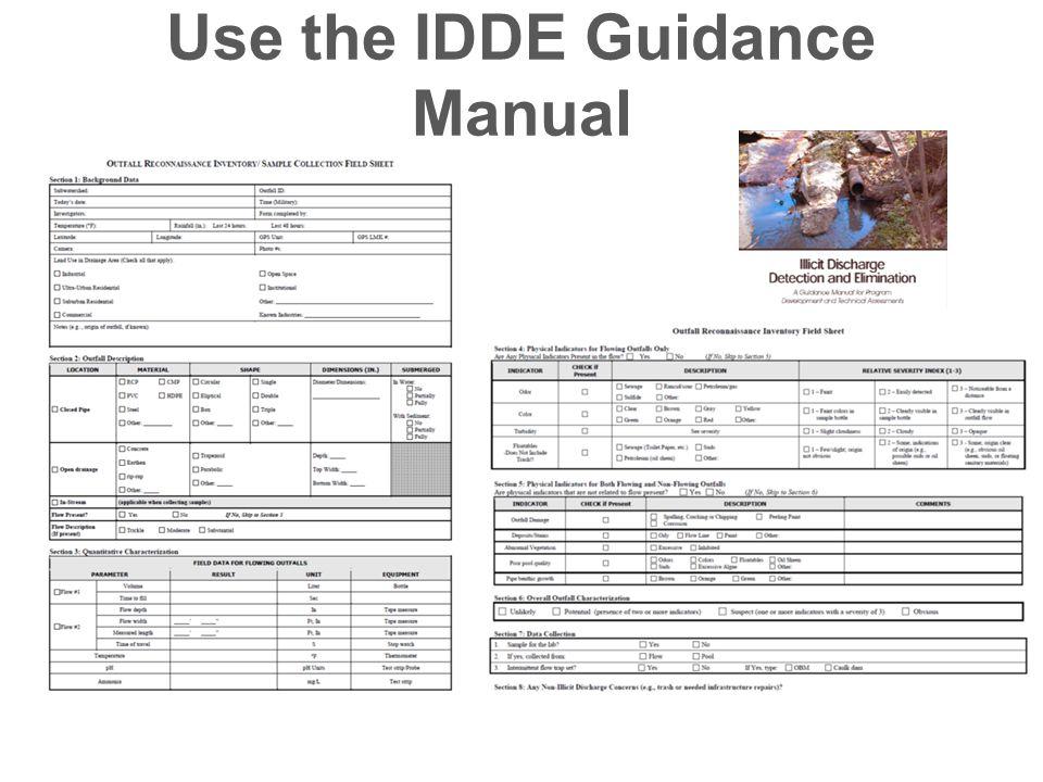 Use the IDDE Guidance Manual