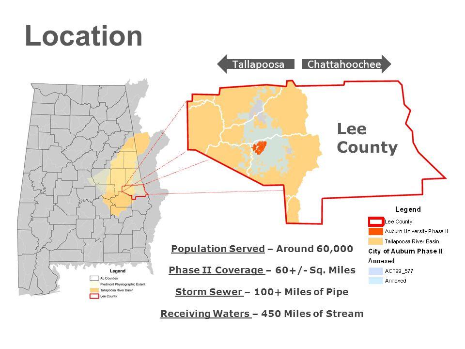Location Population Served – Around 60,000 Phase II Coverage – 60+/- Sq.