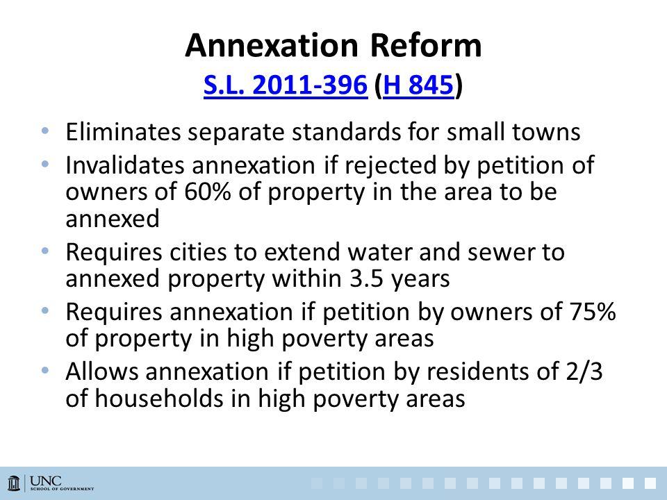 Annexation Reform S.L. 2011-396 (H 845) S.L.