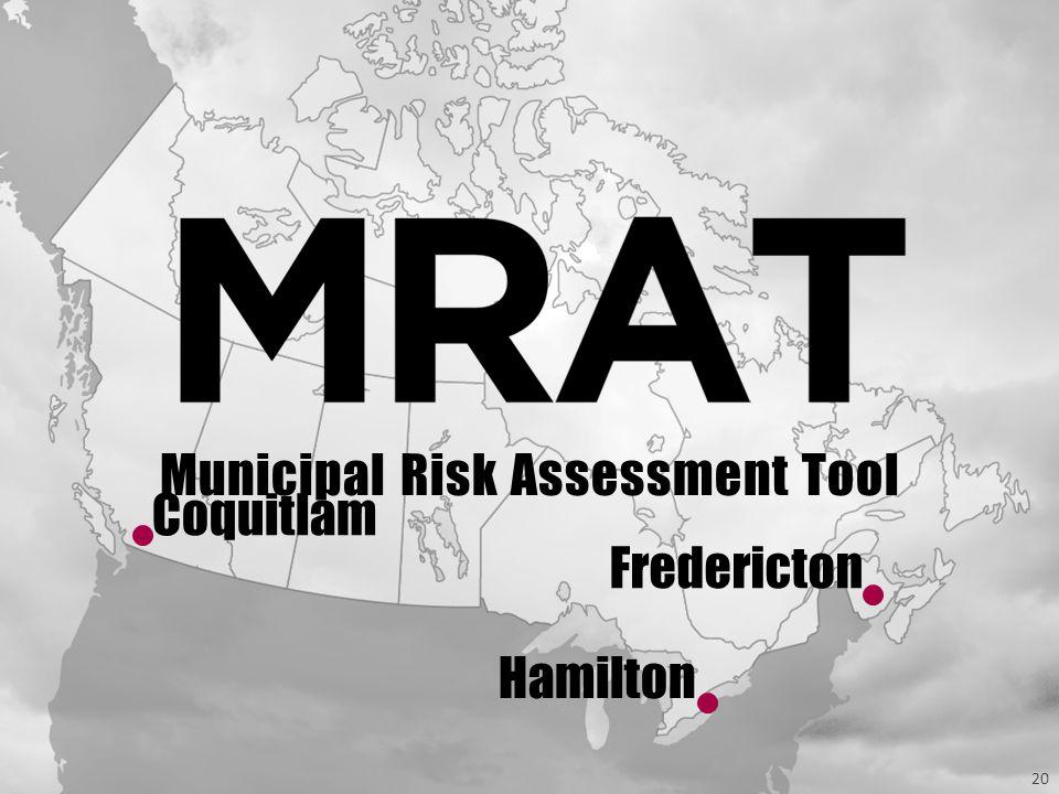 20 Hamilton Fredericton Coquitlam Municipal Risk Assessment Tool