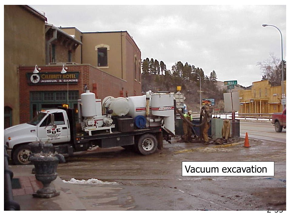 2-35 Vacuum excavation