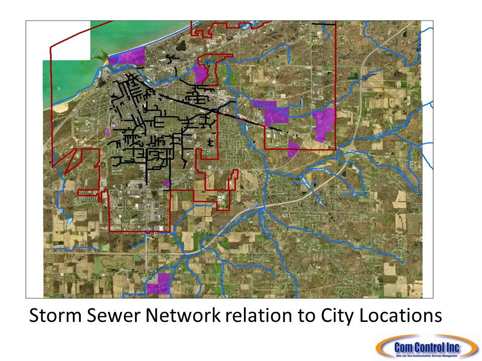 Storm Sewer Network relation to City Locations