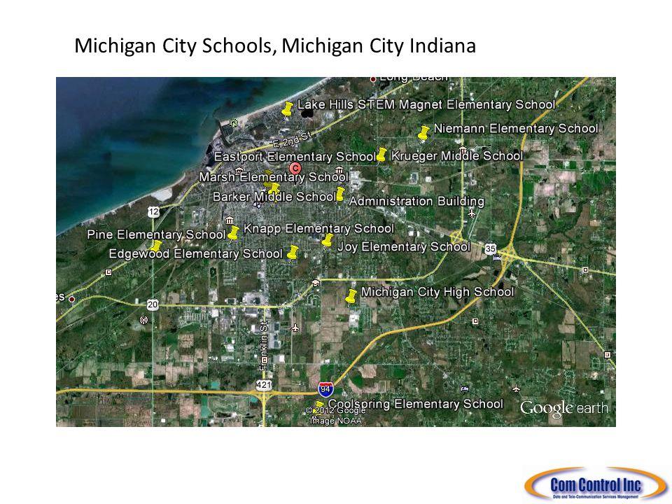 Michigan City Municipal Locations, Michigan City Indiana South Shore Freight ROW