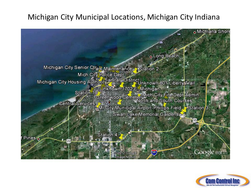 Michigan City Municipal Locations, Michigan City Indiana South Shore Freight ROW