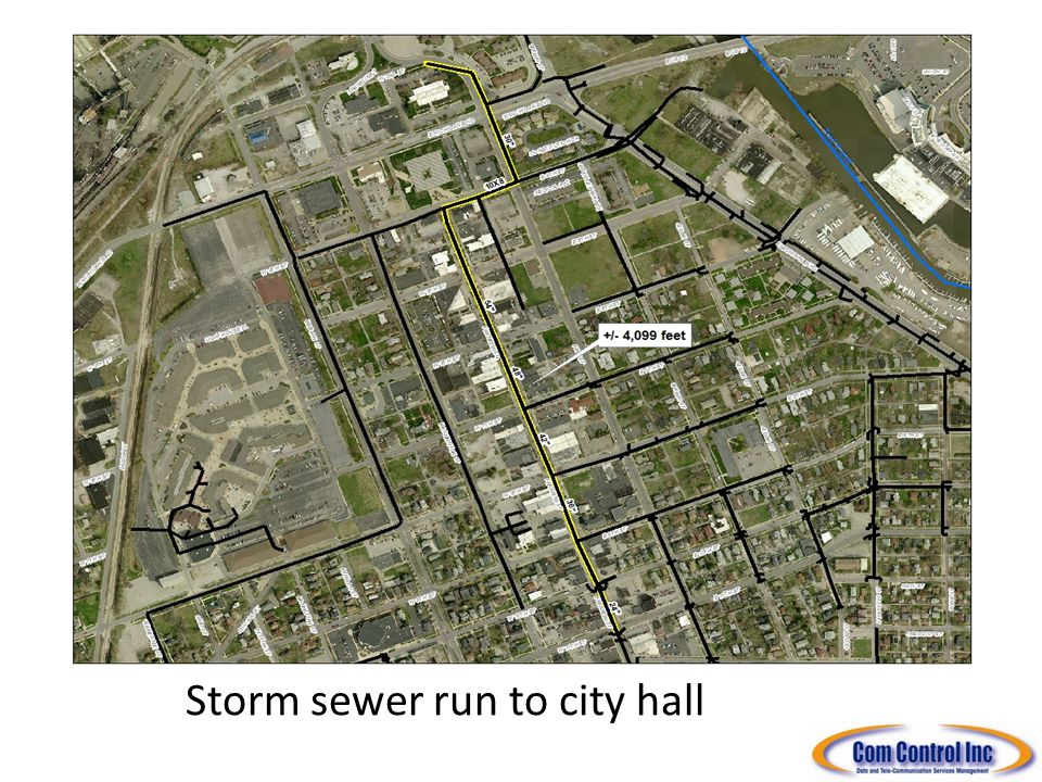 Storm sewer run to city hall
