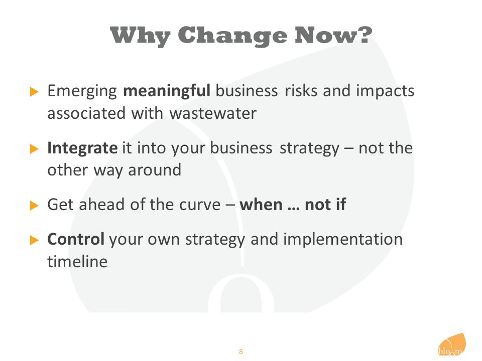 Why – Risks & Impacts.