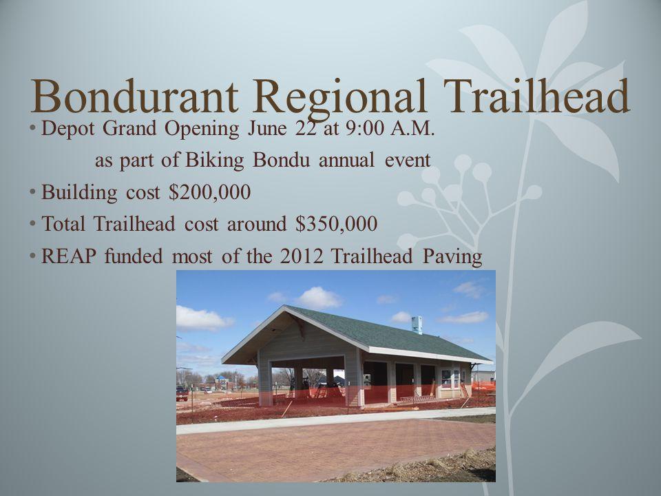 Bondurant Regional Trailhead Depot Grand Opening June 22 at 9:00 A.M.