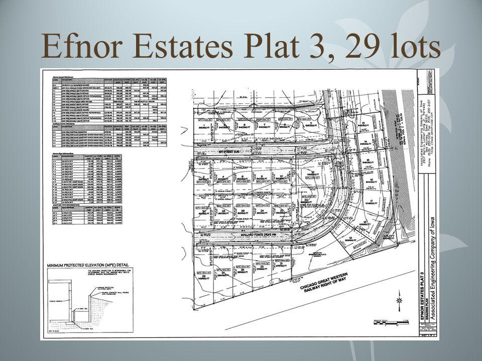 Efnor Estates Plat 3, 29 lots