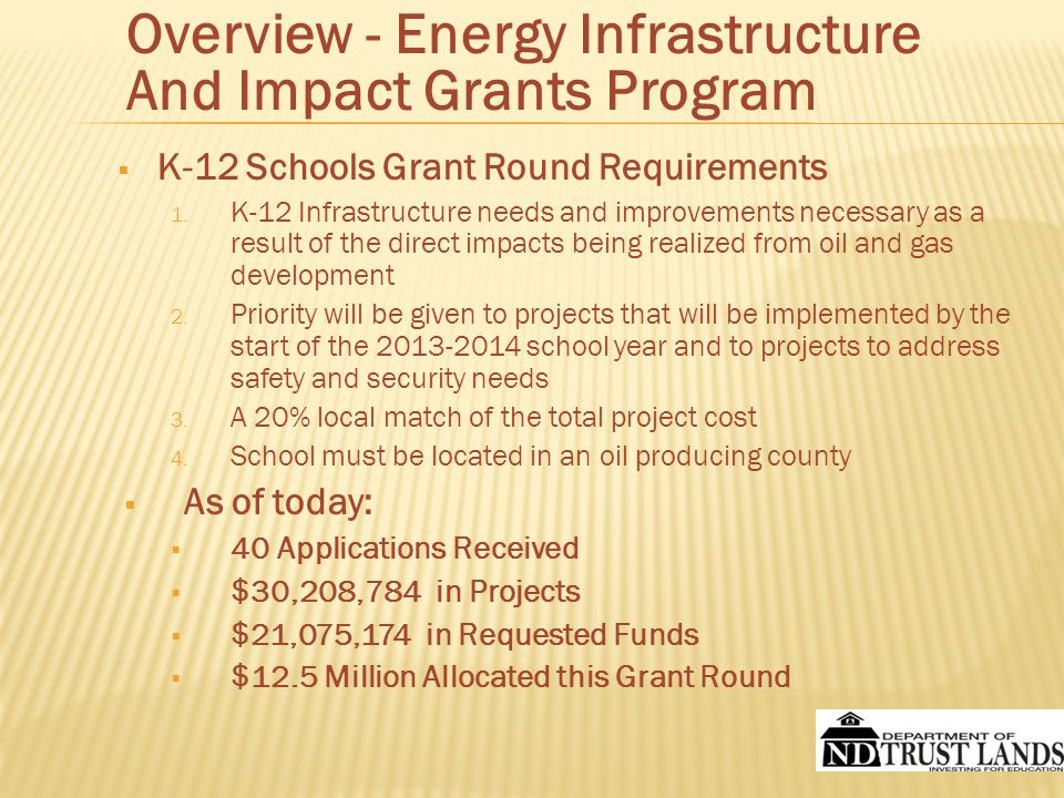  K-12 Schools Grant Round Requirements 1.