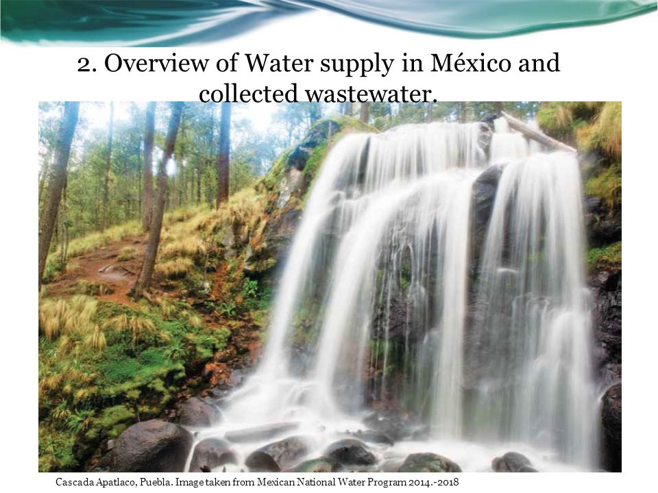 2. Overview of Water supply in México and collected wastewater.