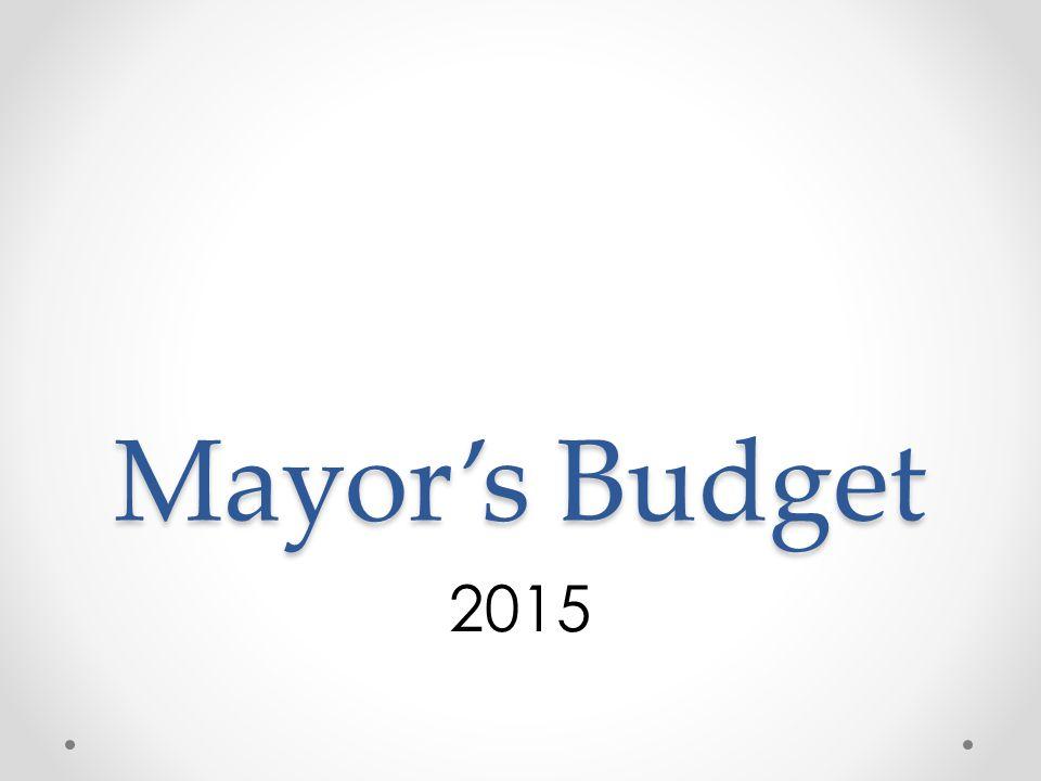 Mayor's Budget 2015