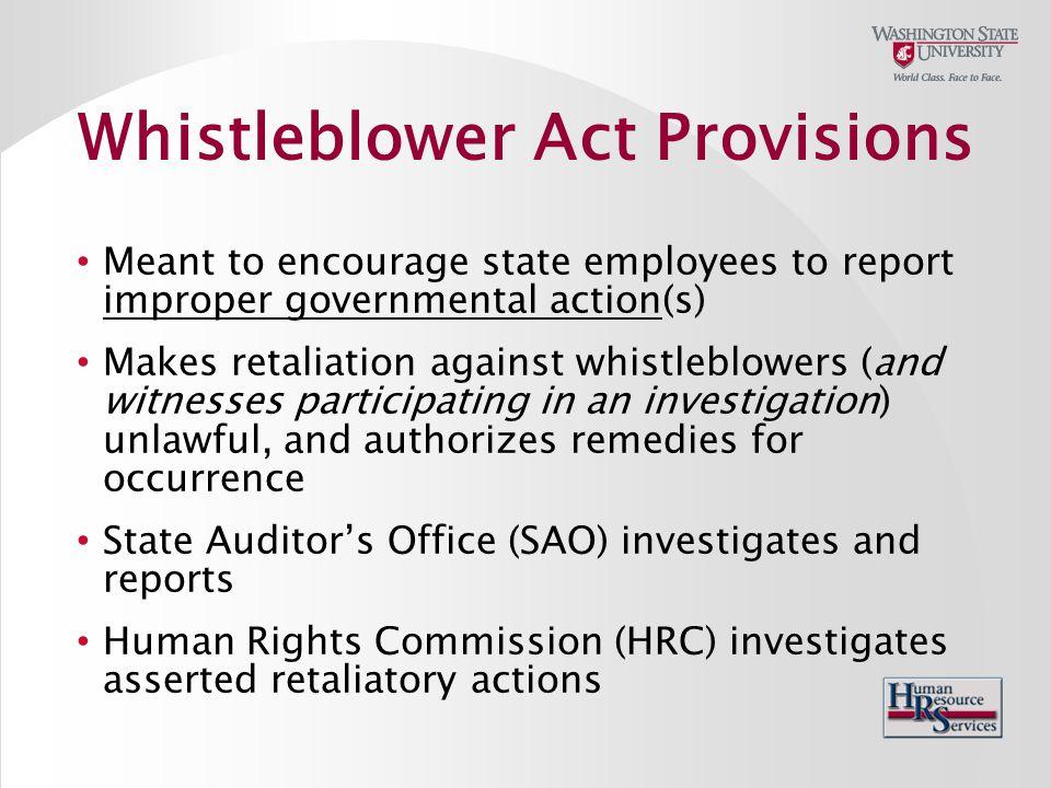 WSU Internal Audit – (509) 335-5336, http://internalaudit.wsu.edu http://internalaudit.wsu.edu SAO – http://www.sao.wa.govhttp://www.sao.wa.gov EEB – http://ethics.wa.govhttp://ethics.wa.gov WSU Whistleblower Policy – BPPM 10.20 WSU Ethics Policy - BPPM 10.21 Resources