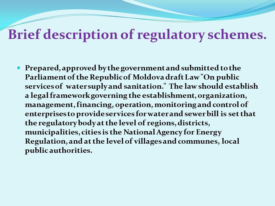 Brief description of regulatory schemes.