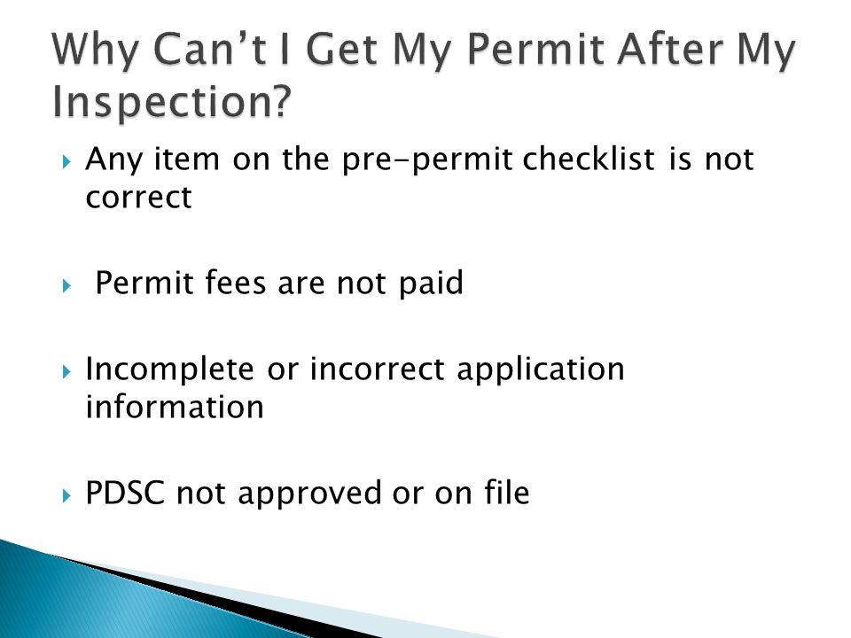  Once a pre-permit inspection is successfully completed, the permit will be posted on our website at http://meckpools.charmeck.org within 3 dayshttp://meckpools.charmeck.org  Look for the icon located in the right corner of the page