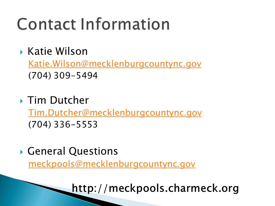  Craig Miller ◦ Charlotte Mecklenburg Stormwater Services