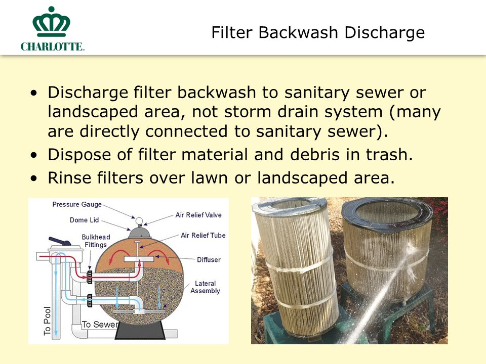 Pool Construction & Maintenance Use erosion control to prevent sediment from discharging offsite.