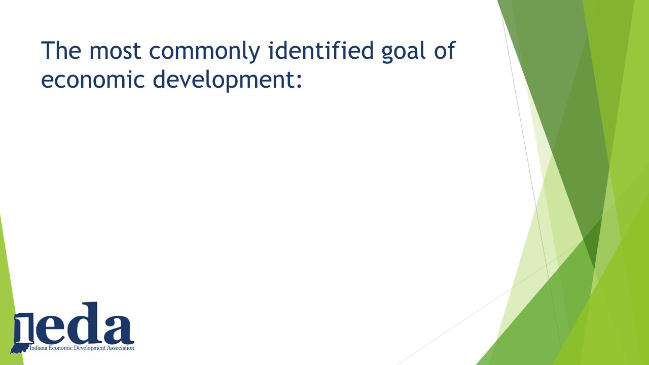 The most commonly identified goal of economic development:
