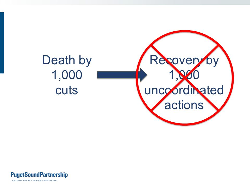 Death by 1,000 cuts Recovery by 1,000 uncoordinated actions