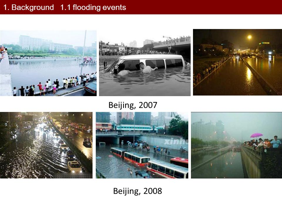 Beijing 2011-06-23 1. Background 1.1 flooding events