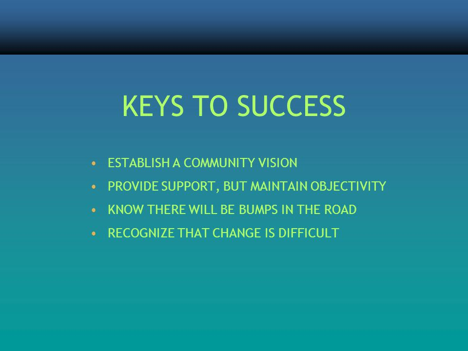 ESTABLISH A COMMUNITY VISION